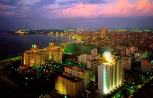 air-view-havana-city-night