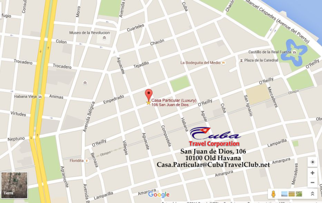 CasaParticularYanela-Tag-Mapa